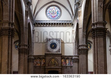 Decorated Wall Of Duomo Cathedral In Florence