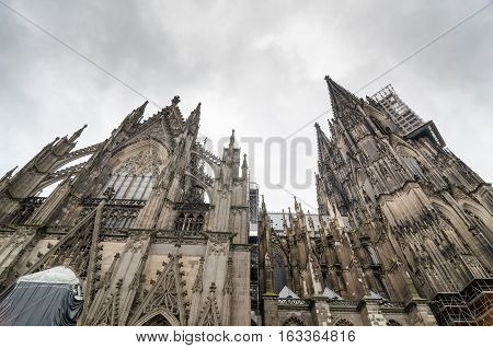 Cologne, Germany - September 17, 2015: Cologne Cathedral. World Heritage - a Roman Catholic Gothic cathedral in Cologne.