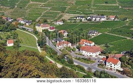 view of the landscape and the Wachau, Austria, Europe