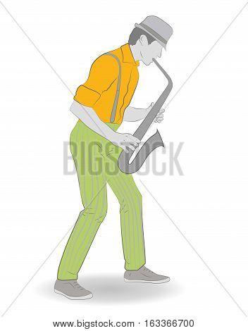 jazz saxophonist . . vector illustration .