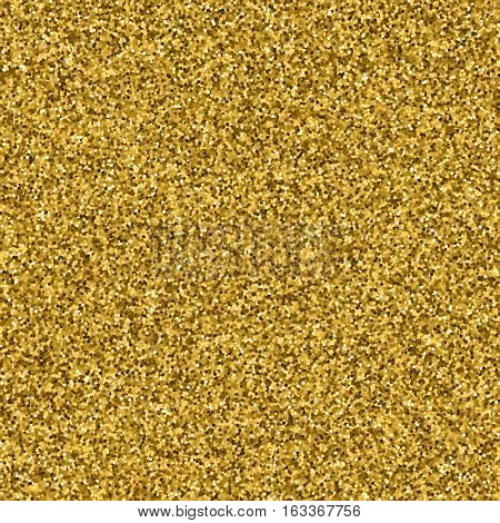 Gold glitter texture. Golden explosion of confetti. Golden drops abstract texture . Design element. Vector illustrationeps 10.
