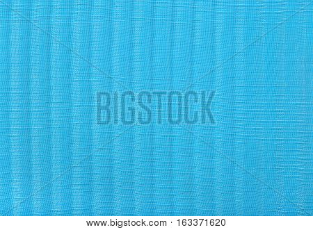 Blue Pleated Transparent Caprone Cloth As Background Texture