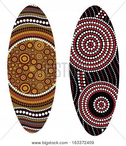 Aboriginal shield (Vector art). Illustration based on aboriginal style of dot shield.