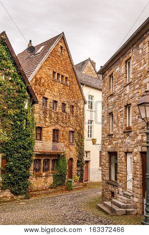 View In The Streets Of Aachen Germany