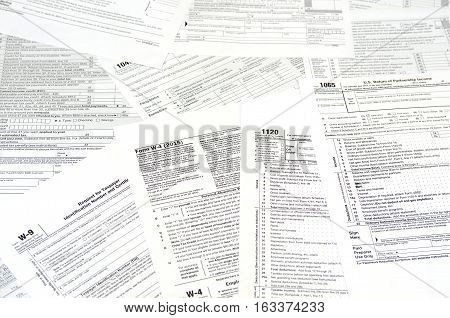 various blank USA tax forms - 1040