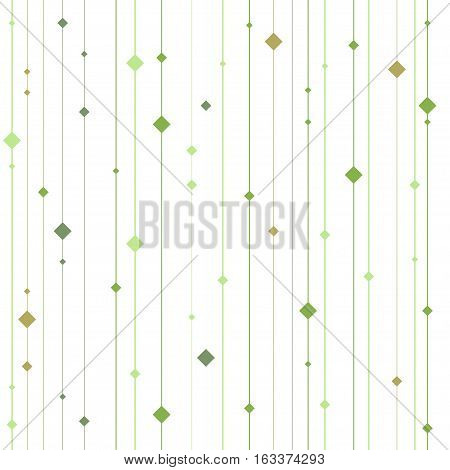 Vector seamless greenery pattern. Repeating geometric background. Graphic stripes with vertical direction. Repeating abstract background with lines and squares.
