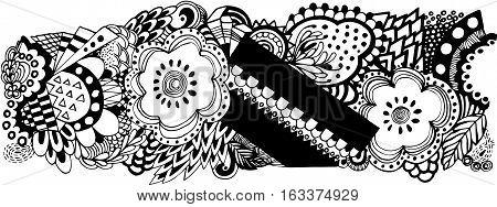 Borte Spitze edging border schwarz weiß freigestellt