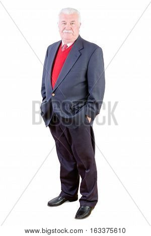 Elderly Confident Relaxed Stylish Man In A Suit