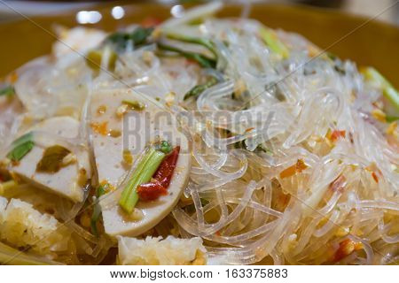 delicious Yum Woon Sen mix with vegetable