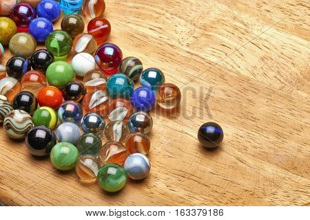 Lot Of Multi Colored Marbles