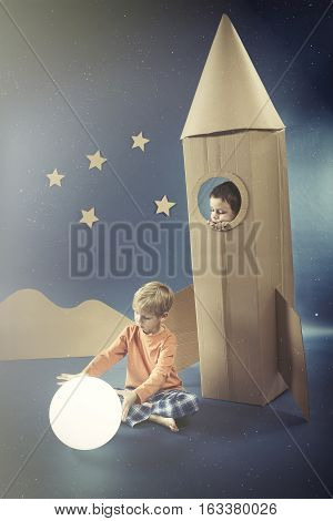 Night With Boy In Rocket