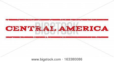 Central America watermark stamp. Text caption between horizontal parallel lines with grunge design style. Rubber seal stamp with unclean texture.