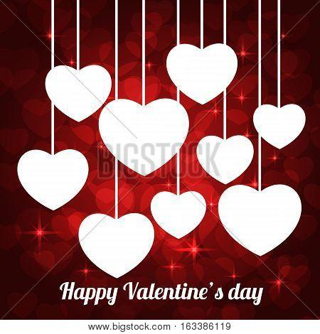 valentine bokeh frame for greeting cards. vector illustration