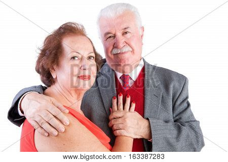 Loving Elderly Valentines Couple