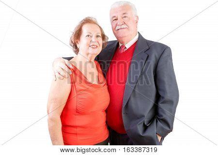 Senior Couple Celebrate Valentines Day Together