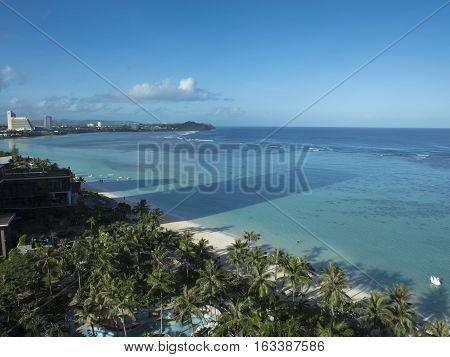 Scenic View of Tumon Bay in Guam