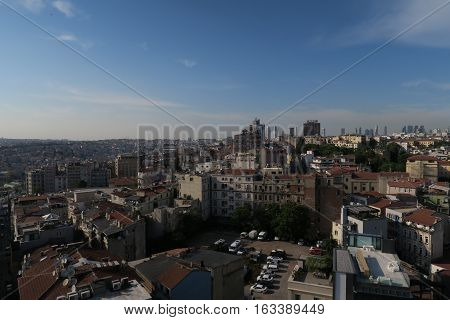 Galata-Beyoglu District in the North of the Golden Horn and West of the Bosporus in Istanbul.