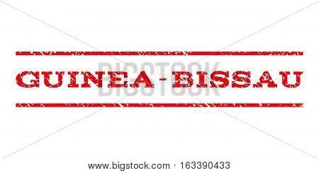 Guinea-Bissau watermark stamp. Text caption between horizontal parallel lines with grunge design style. Rubber seal stamp with dust texture.