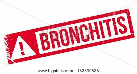 Bronchitis rubber stamp. Grunge design with dust scratches. Effects can be easily removed for a clean, crisp look. Color is easily changed.