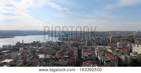 Bridge over the Golden Horn - Bosporus - in Istanbul, Turkey, at Sundawn.