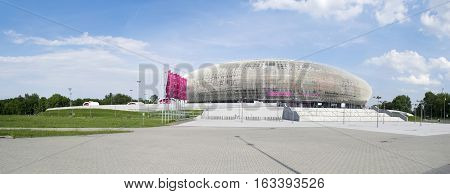 Editorial image. CRACOW, POLAND 05 21 2016: Tauron Arena Krakow is an indoor arena for sporting events