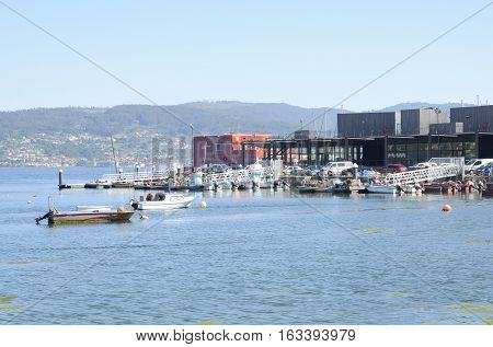 COMBARRO, SPAIN - AUGUST 6, 2016: Seaport of the village of Combarro in the province of Pontevedra in the Galicia region of Spain.
