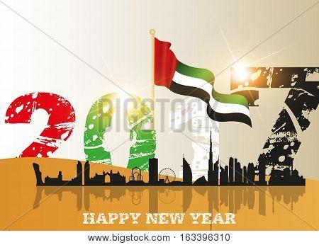 United Arab Emirates ( UAE ) happy new year 2017
