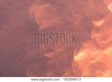 abstract pink bokeh circles for Christmas background light and blurred boke