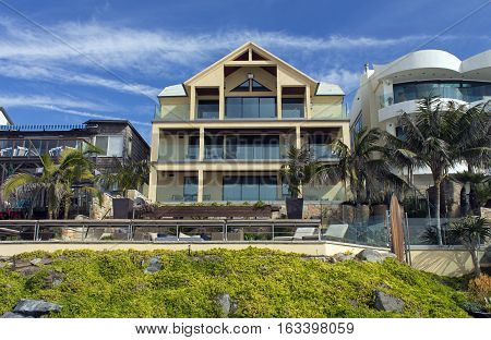 Luxury american house with beautiful blue sky,California