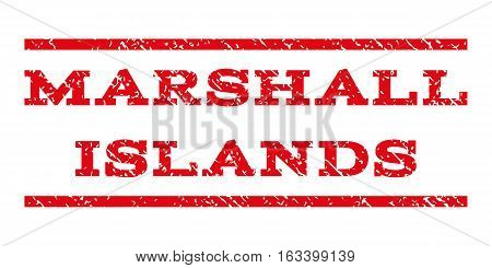 Marshall Islands watermark stamp. Text tag between horizontal parallel lines with grunge design style. Rubber seal stamp with scratched texture.