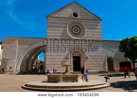5 may 2014-assisi-italy-the basilica of Assisi, italy
