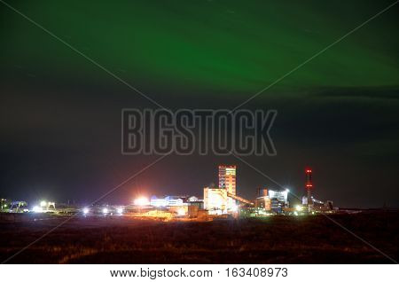 Northern Lights in Artic. Vorkuta, north of Russian Federation
