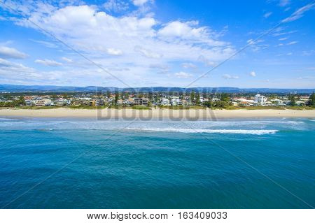 An aerial view of Mermaid Beach on the Gold Coast, Australia