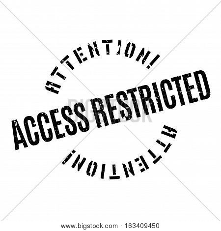 Access Restricted rubber stamp. Grunge design with dust scratches. Effects can be easily removed for a clean, crisp look. Color is easily changed.