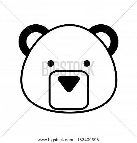 cute bear character icon vector illustration design