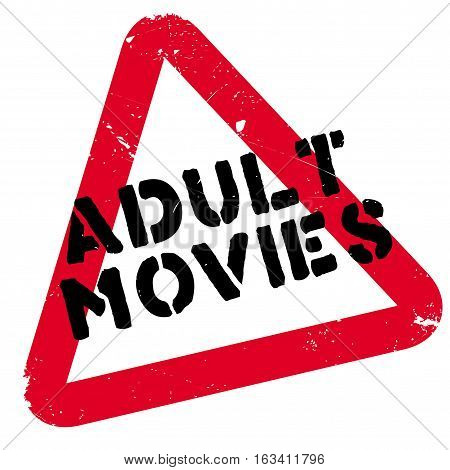 Adult Movies rubber stamp. Grunge design with dust scratches. Effects can be easily removed for a clean, crisp look. Color is easily changed.