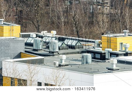 roof top of the new commercial building