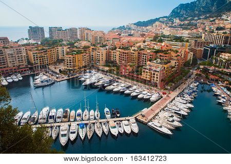 Luxury Yachts In The Bay Of Monaco