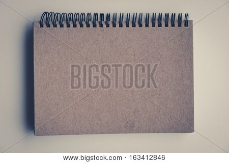 Blank Book Cover Vintage Look Isolated