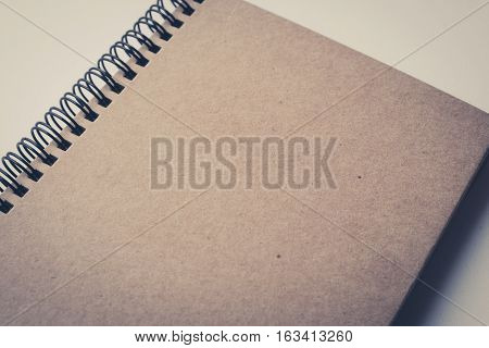blank book cover empty page - vintage filter