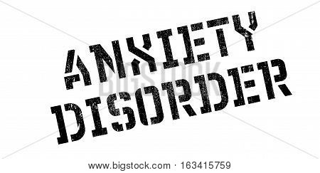 Anxiety Disorder rubber stamp. Grunge design with dust scratches. Effects can be easily removed for a clean, crisp look. Color is easily changed.