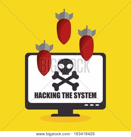 system threats concept icons vector illustration design