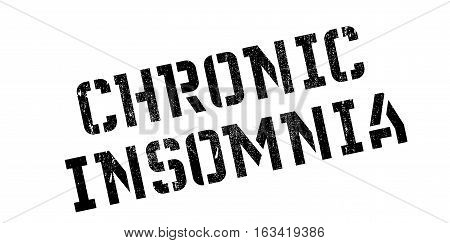 Chronic Insomnia rubber stamp. Grunge design with dust scratches. Effects can be easily removed for a clean, crisp look. Color is easily changed.