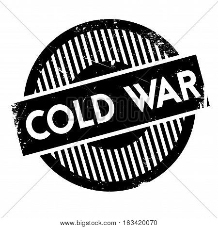 Cold War rubber stamp. Grunge design with dust scratches. Effects can be easily removed for a clean, crisp look. Color is easily changed.