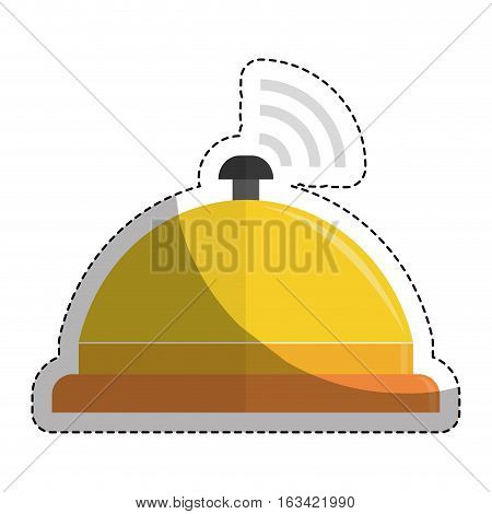 reception bell icon over white background. hotel services concept. colorful design. vector illustration
