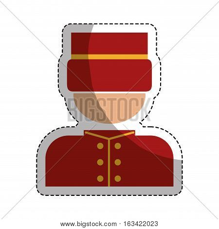 bellhop man icon over white background. hotel services concept. colorful design. vector illustration