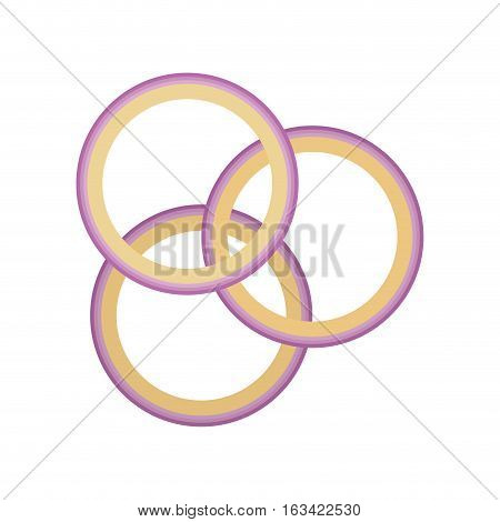 rings onion isolated icon vector illustration design