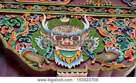 Decoration And Arts In Thiksey Monastery