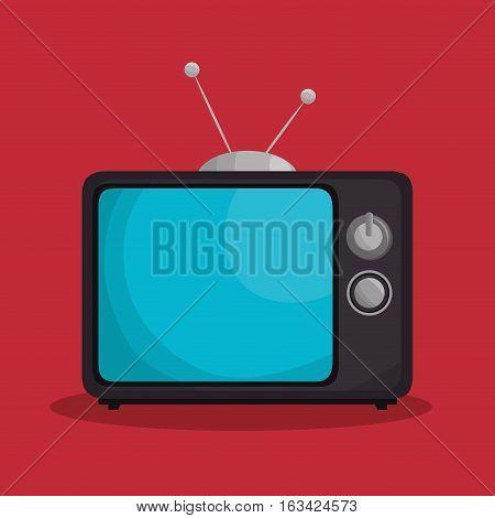 tv retro isolated icon vector illustration design