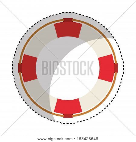 life guard float isolated icon vector illustration design